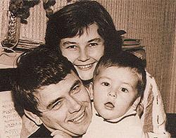 С супругой Ларисой и сыном Юрочкой