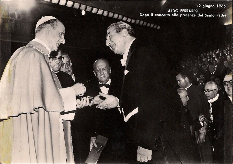 После концерта с Папой Павлом VI